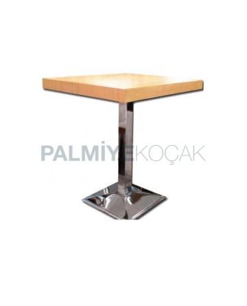 Chrome Leg Beech Table Top Table