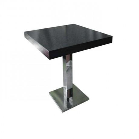 Lake Black Painted Stainless Steel Leg Table - mtm4026