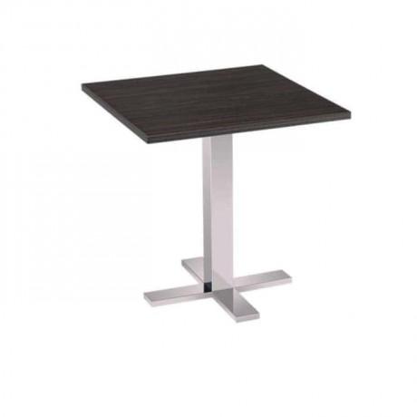 Laminat Table Top Metal Stainless Steel Legged Hotel Table - mtm4006