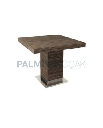 Mdf Lam Table Top Stainless Steel Legged Restaurant Table