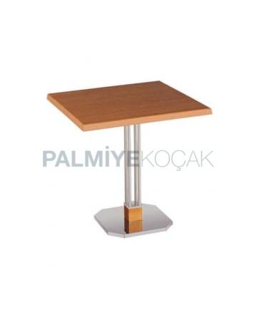 Oak Colorful Metal Leg Table