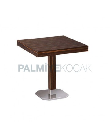 Metal Leg Mdf Lam Restaurant Table