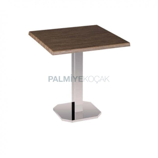Verzalit Cafe Table with Metal Legs