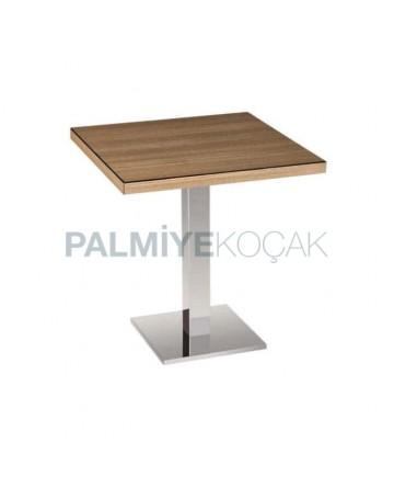 Stainless Steel Leg Restaurant Table