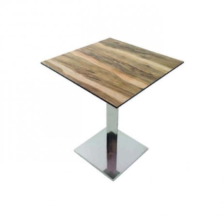 Cafe Table with Stainless Steel Legs - cmp947
