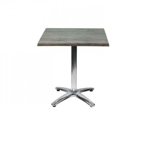 Paslanmaz Yıldız Ayaklı Kare Cafe Masası - mtm4031