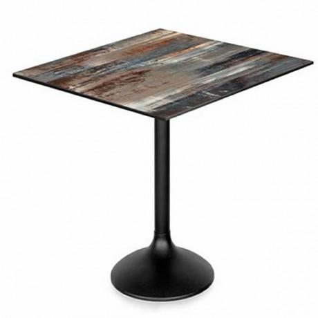 Pastel Görünümlü Metal Ayaklı Kare Kompakt Laminat Masa Mobilyası - pmp113