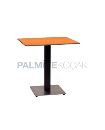 Black Painted Metal Leg Restaurant Table