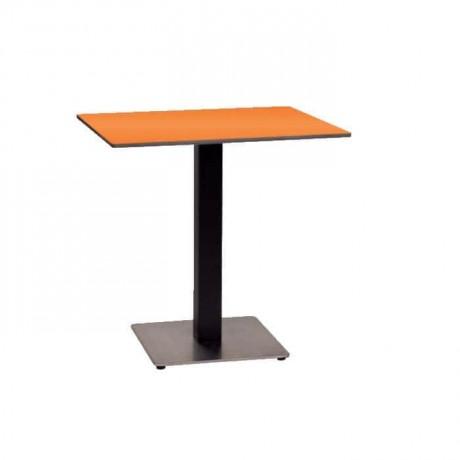 Black Painted Metal Leg Restaurant Table - mtm4023