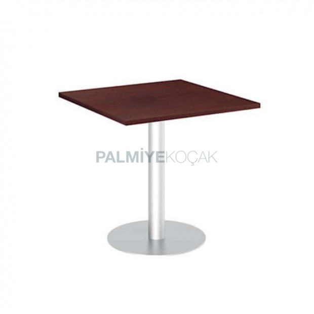 Round Stainless Steel Leg Antiqued Table