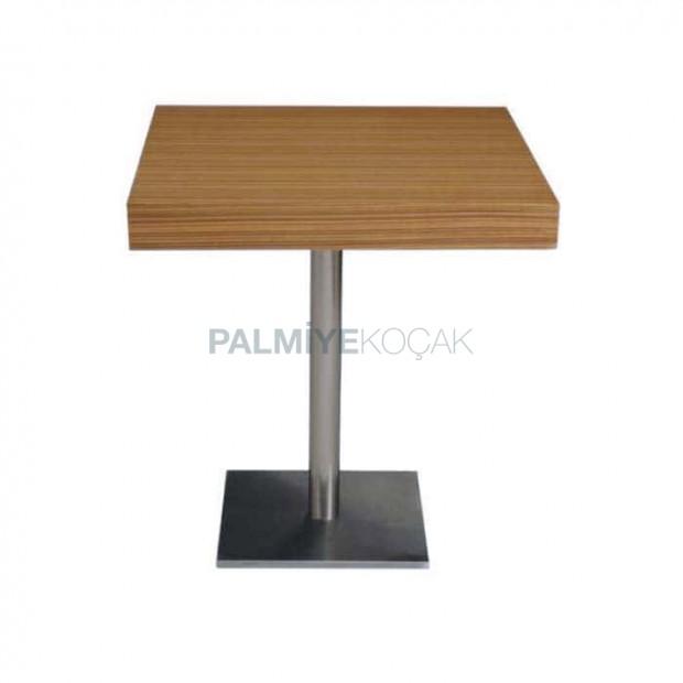 Olive Upholstered Stainless Steel Leg Table