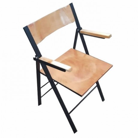 Wooden Sitting Area Metal Folding Chair
