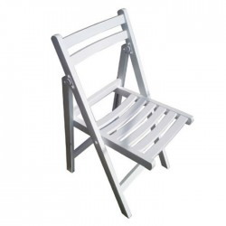 White Folding Wooden Chair