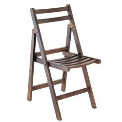 Dark Antique Folding Chair