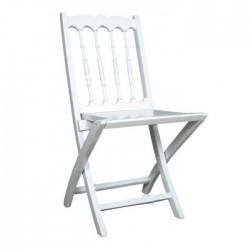 Napoleon Folding White Wood Chair
