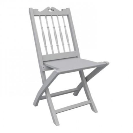 Tiffany Tornalı Katlanır Beyaz Düğün Salonu Organizasyon Sandalyesi - aks05