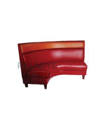 Red Leather Upholstered Corner Cedar