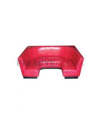 Red leather Upholstered Booths