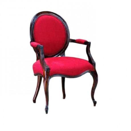 Kırmızı Kumaş Döşemeli Lukens Otel Sandalyesi - ksak44
