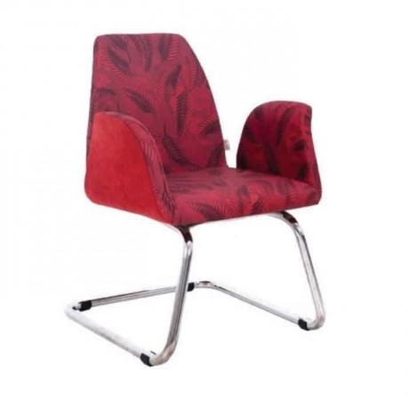 Kırmızı Kumaş Kollu Poliüretan Sandalye - psd271