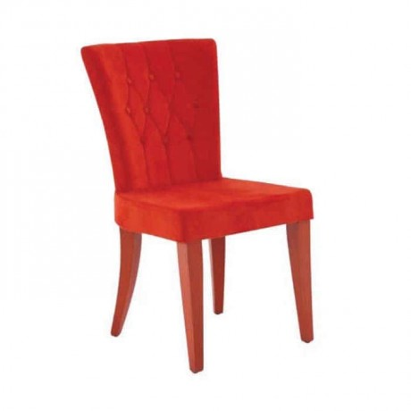 Red Fabric Quilted Chair - psa628