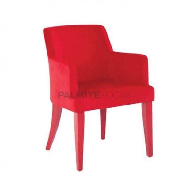 Kırmızı Modern Kollu Poliüretan Sandalye