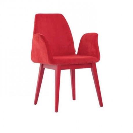 Kırmızı Nubuk Kumaş Döşemeli Poliüretan Sandalye - psa691