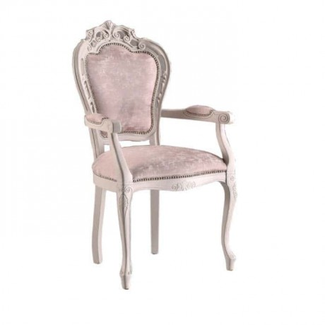 Klasik Oymalı Kollu Salon Sandalyesi - ksak104