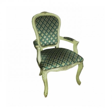 Fabric Upholstered Classic Arm Chair