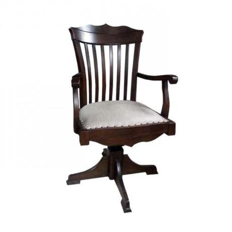 Martı Tepeli Ahşap Kollu Sabit Ofis Sandalyesi - ksak127