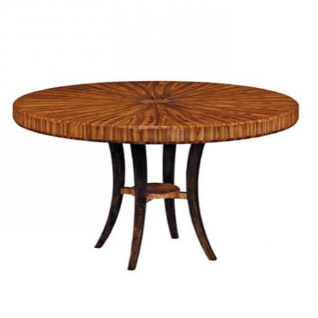 Ahşap Tablalı Klasik Salon Masası - kym27