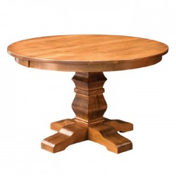 Classic Round Table with Wooden Turned Leg