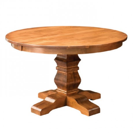 Classic Round Table with Wooden Turned Leg - kym16