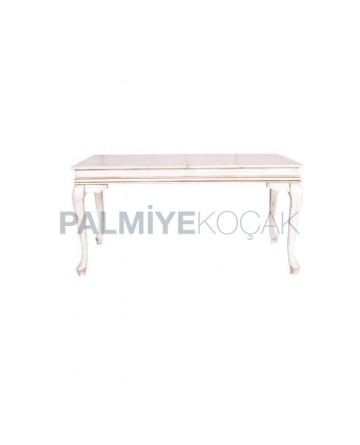 Beyaz Patinalı Lukens Masa