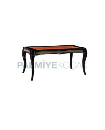 Classic Table with Rectangular Lukens Leg Massive Table Top