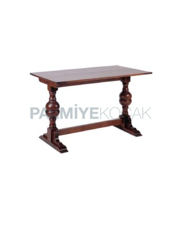Antique Polished Turned Restaurant Table