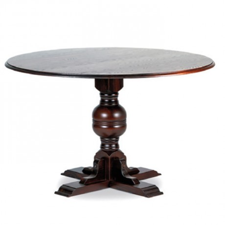 Klasik Ayaklı Yuvarlak Tablalı Cafe Masası - kym39
