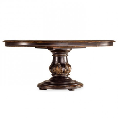 Classic Carved Turned Leg Hotel Table - kym19
