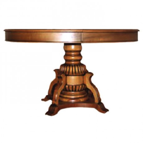 Classic Hotel Table with Classic Turned Leg - kym06