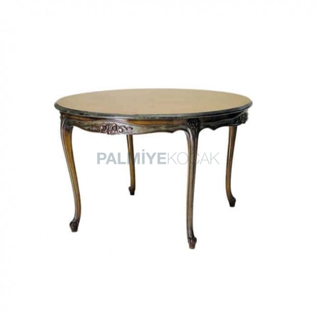 Lukens Leg Carved Round Classic Table