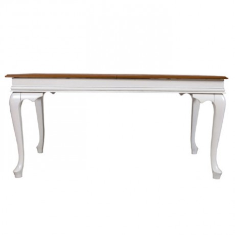 Lukens White Painted Wooden Table Top Classic Table - kdm08