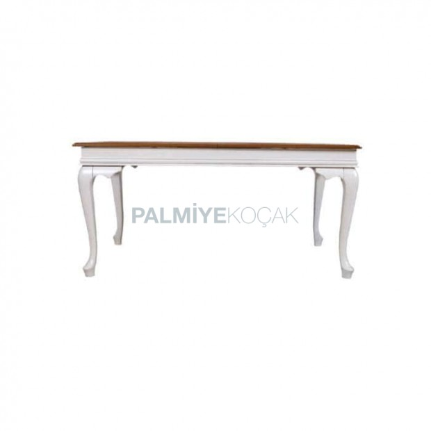 Lukens White Painted Wooden Table Top Classic Table