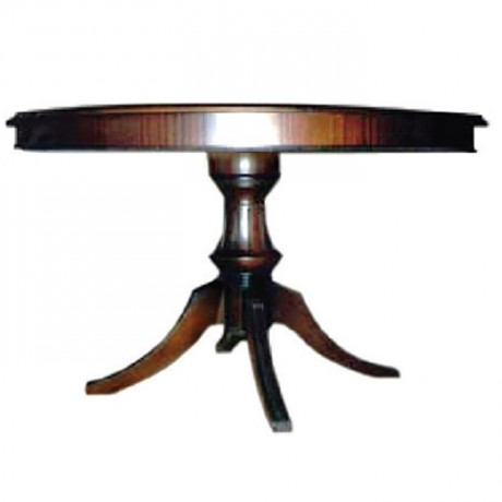 Lukens Turned Leg Classic Table with Round Table - kym08