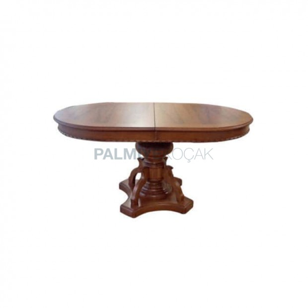 Large Classic Table with Oval Table Top Turning Leg