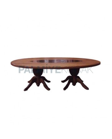 Oval Table Turned Leg
