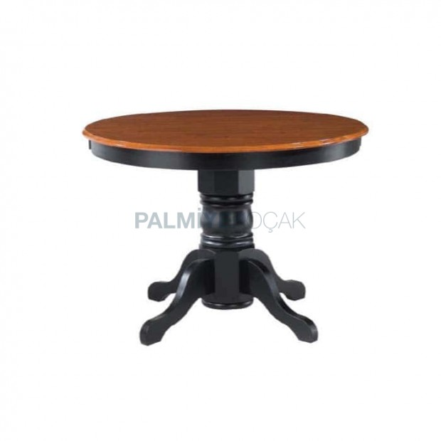 Classic Table with Black Painted Turned Leg