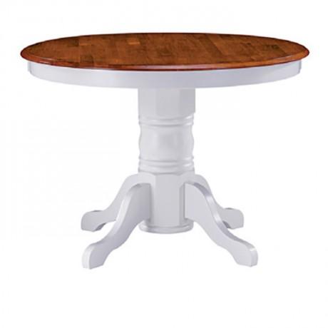 Turned Leg White Lake Painted Classic Lounge Table - kym15