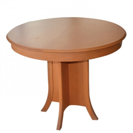 Round Table Top Classic Table with Oak Painted - kym29