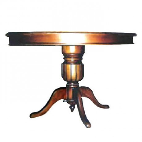 Classic Table with Round Table Top - kym02