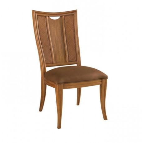 Açık Ceviz Boyalı Kontralı Klasik Sandalye - ksa103